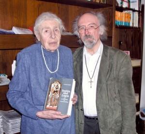 Frau Lucia Eberz mit Professor Dr. Heinrich Treziak